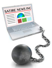 Your satire site may not be a plus.